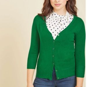 ⭐️NEW ARRIVAL Modcloth Green 3/4 Sleeve Cardigan